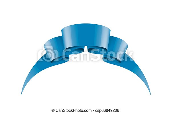 blue sticker on white background. Vector illustration - csp66849206