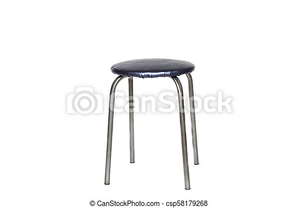 Blue stool on a white background - csp58179268