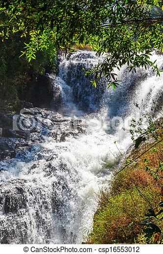 Blue stream waterfall in Vietnam - csp16553012
