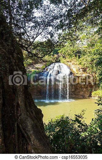 Blue stream waterfall in Vietnam - csp16553035