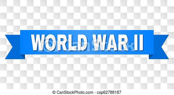 Blue Stripe with WORLD WAR II Title - csp62788187