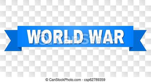 Blue Stripe with WORLD WAR Text - csp62789359