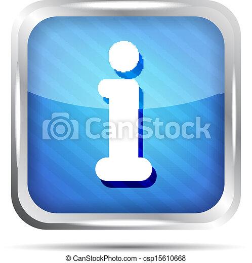 blue striped info icon button - csp15610668
