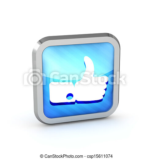Blue striped like icon on a white background  - csp15611074