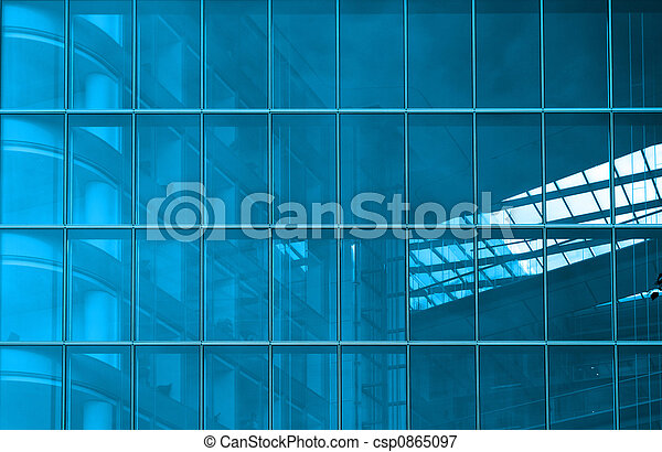 Blue structural glazing - csp0865097