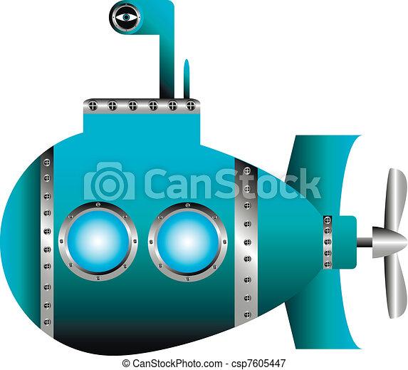 Blue submarine - csp7605447