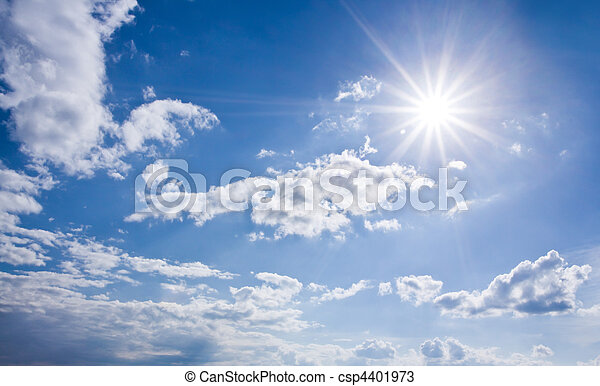 Blue sunny sky - csp4401973