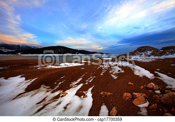 blue sunset in bulgaria - csp17700359