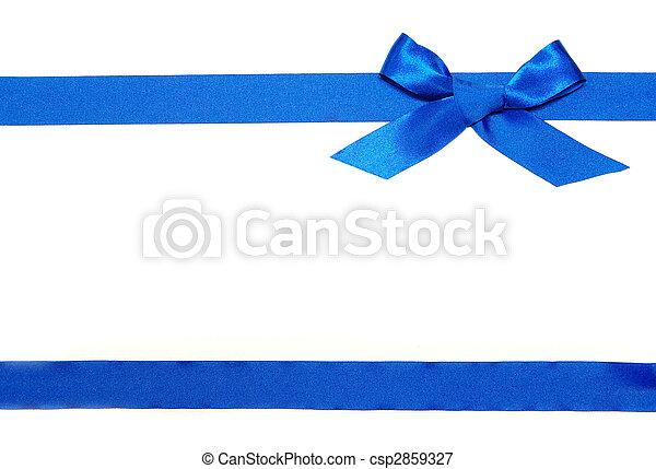 blue szalag, íj - csp2859327