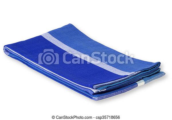 Blue tablecloth - csp35718656