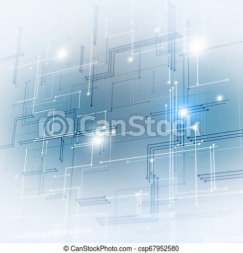 Blue Technology Background - csp67952580