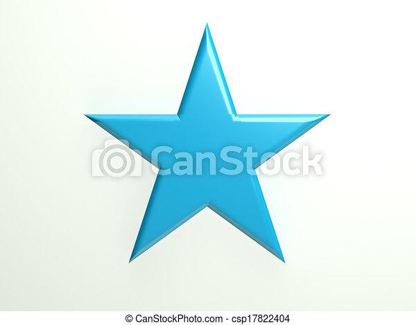 Blue textured star icon - csp17822404