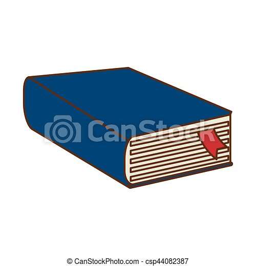 blue thick book icon design vector illustration image