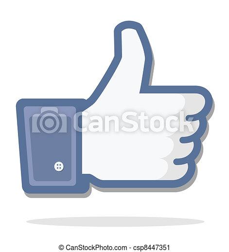 blue thumb up - csp8447351