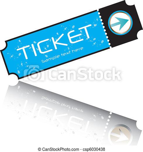 blue ticket vector - csp6030438
