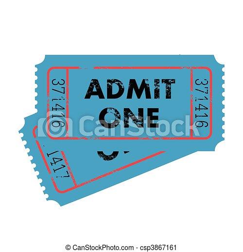 Blue Tickets - csp3867161