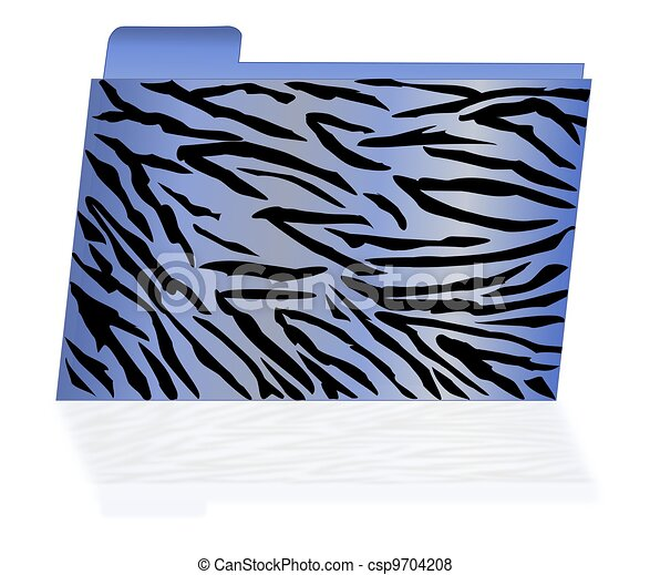 Blue Tiger Striped File Folder - csp9704208