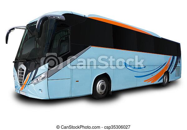 Blue Tour Bus - csp35306027