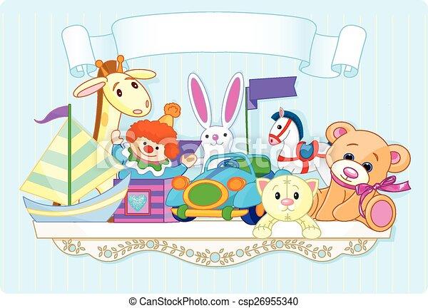Blue toy shelf - csp26955340
