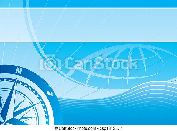 Blue travel background - csp1312577