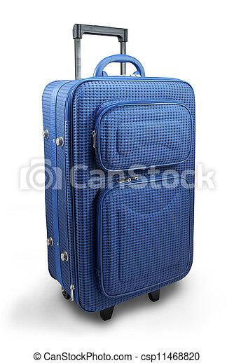 Blue travel suitcase - csp11468820