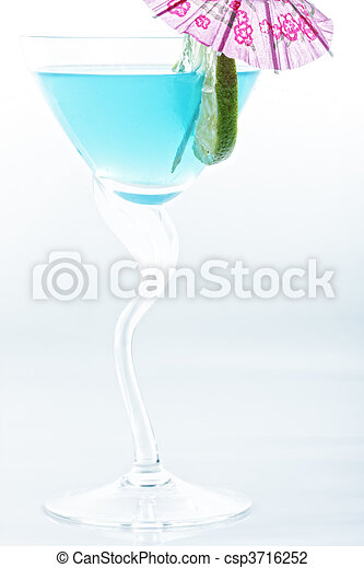 Blue tropical cocktail - csp3716252