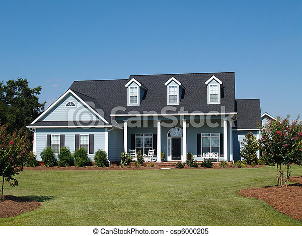Blue Two Story Residential Home  - csp6000205