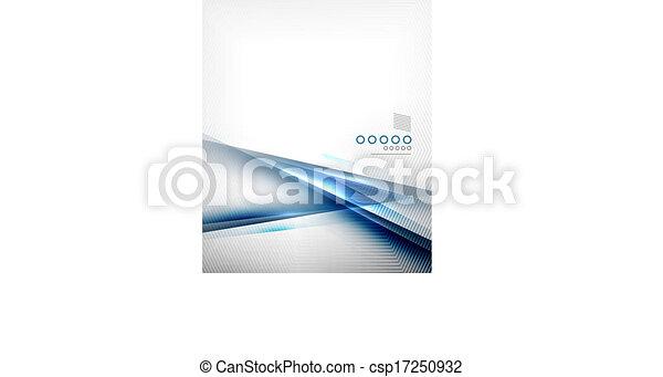 Blue vector blur motion lines business template - csp17250932