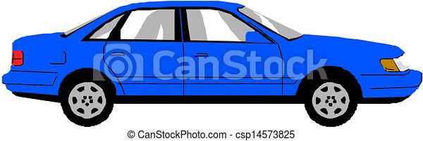 Blue vector car - csp14573825