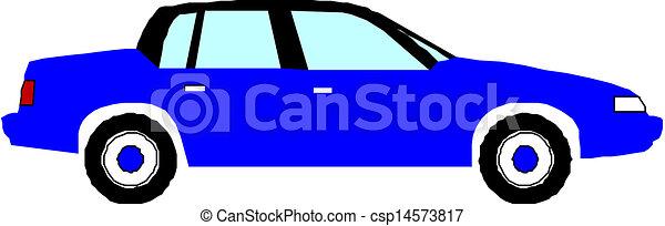 Blue vector car - csp14573817