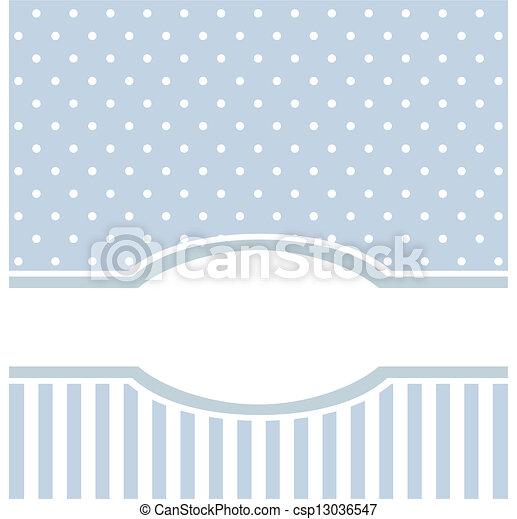 Blue vector card or invitation - csp13036547
