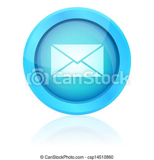Blue vector e-mail button - csp14510860