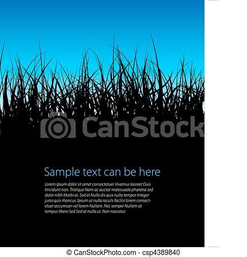 Blue vector grass background - csp4389840