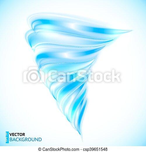 Blue vector isolated tornado - csp39651548