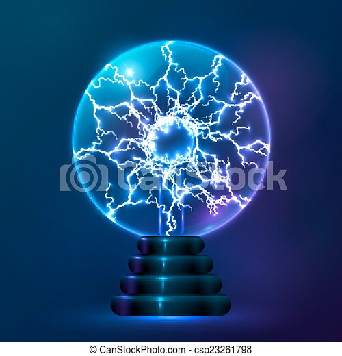 Blue Vector Plasma Ball Lamp Blue Vector Shining Plasma
