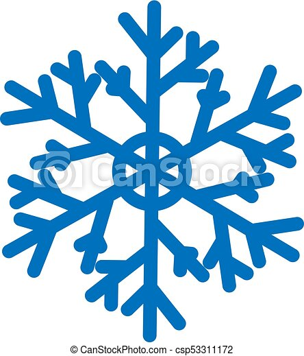 blue vector snowflake isolated on white background flat vectors rh canstockphoto com  snow scene background clipart