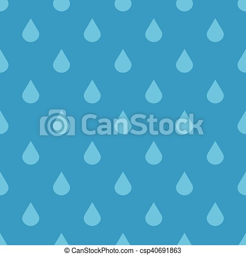 Blue vector water drops seamless pattern - csp40691863