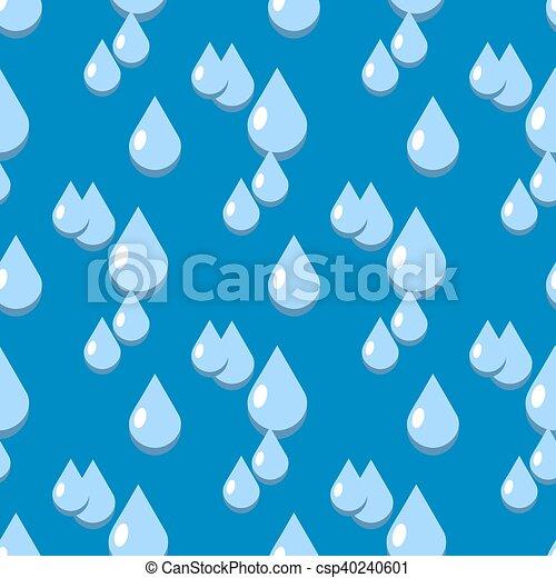 Blue vector water drops seamless pattern - csp40240601