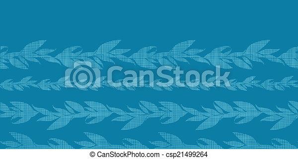 Line art vines : Blue vines stripes textile textured horizontal seamless clip