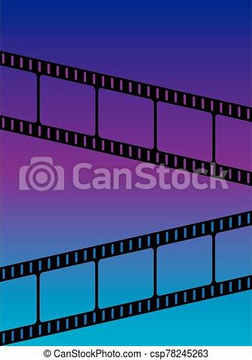 Blue Violet Gradient Film Festival Background - csp78245263
