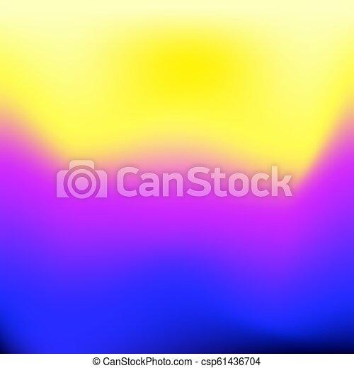 blue violet yellow gradient background - csp61436704