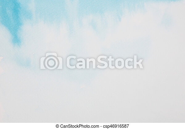 blue water colour painted background - csp46916587