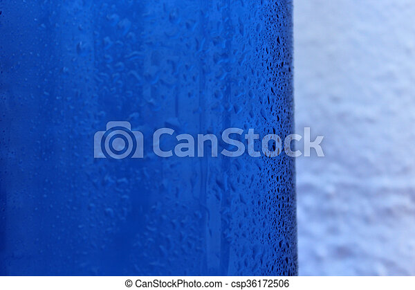 blue water drops background - csp36172506