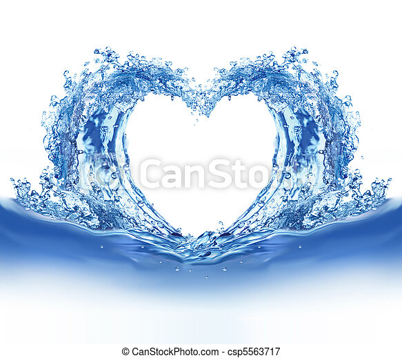 Blue water heart - csp5563717