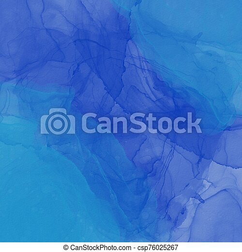 Blue water mark paint on White textured background - csp76025267