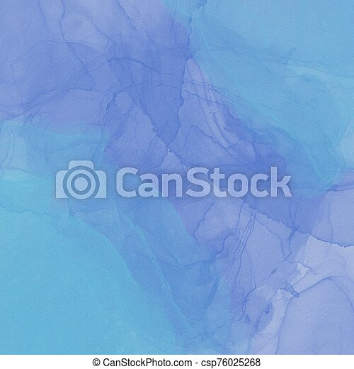 Blue water mark paint on White textured background - csp76025268