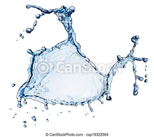 blue water splash isolated - csp19322564