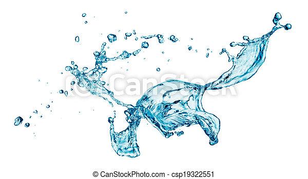 blue water splash isolated - csp19322551