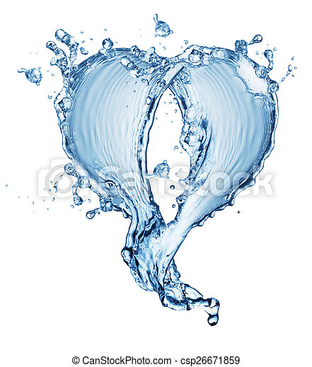 blue water splash isolated - csp26671859
