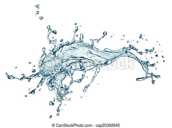 blue water splash isolated - csp20392645